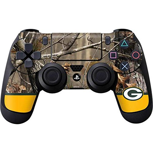 Skinit Realtree Camo Green Bay Packers PS4 Controller Skin - Officially Licensed NFL PS4 Decal - Ultra Thin, Lightweight Vinyl Decal Protective Wrap