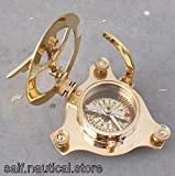 Nautical London Sundial Compass Marine Working Pocket Compass Gift 3'' Brass West A