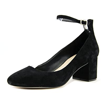 23853a33aad ALDO Womens Clarisse Suede Closed Toe Ankle Strap Classic Pumps