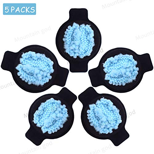 (Mountain god Replacement Parts Kit - 5 Wick Caps for iRobot Braava 320 380 380t Mint 4200 4205 5200 5200C - Vacuum Cleaner Replenishment Water Wick Caps Accessory)