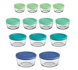 Anchor Hocking Classic Glass Food Storage Containers with Lids, Mixed Blue, 26-Piece Set (B01MXYMS1R) | Amazon Products