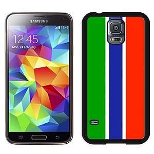 Fashion Custom Designed Cover Case For Samsung Galaxy S5 I9600 G900a G900v G900p G900t G900w Gambia Flag Black Phone Case