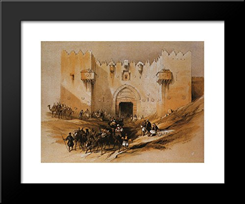 Jerusalem. The Damascus Gate 20x24 Framed Art Print by David Roberts