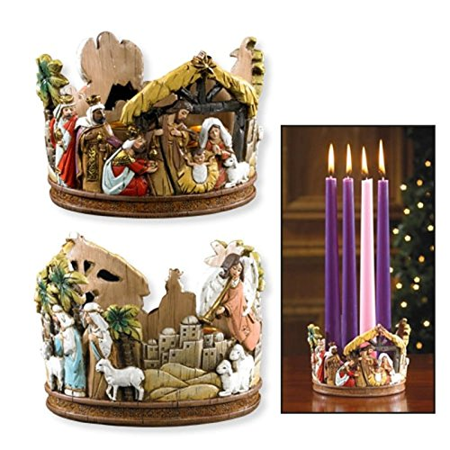 (Nativity Advent Candleholder)