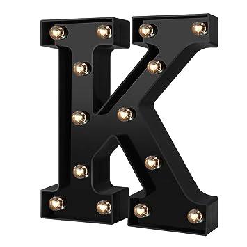 Amazon.com: Luces LED para cartel con diseño de letras, para ...