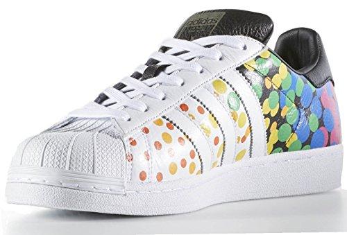 adidas Originals Herren Superstar Casual Sneake Lgbtq Stolz Weiß