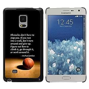 Be Good Phone Accessory // Dura Cáscara cubierta Protectora Caso Carcasa Funda de Protección para Samsung Galaxy Mega 5.8 9150 9152 // basketball Michael Jordan quote sport