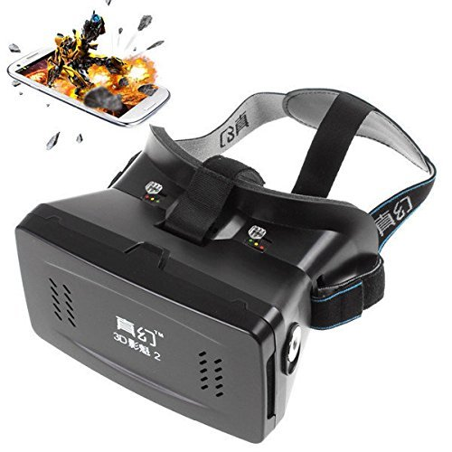 JT Tech RITECH II Head Mount Plastic 3D Version VR Virtual Reality Glasses Google Cardboard Movies Games for 3.5 to 6 Inch Smartphone