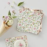 Bridal Shower Country Wedding Garden Party Birthday Paper Napkins 6.5'' Lunch Dessert Floral Pk 32