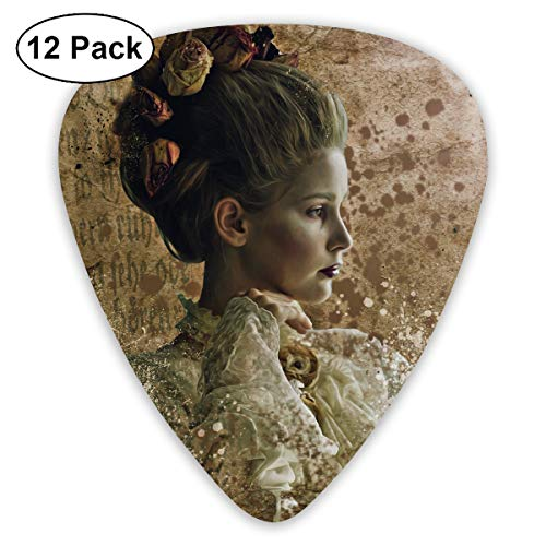 Ghost Halloween Woman Beauty Young Dark Portrait Guitar Pick 0.46mm 0.73mm 0.96mm 12pack,Suitable for All Kinds of -
