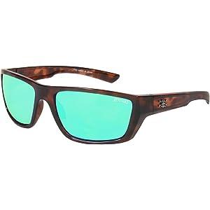 2b8ee8a2eb Calcutta Shock Wave Sunglasses (Tortoise Frame w  Green Mirror Lenses)