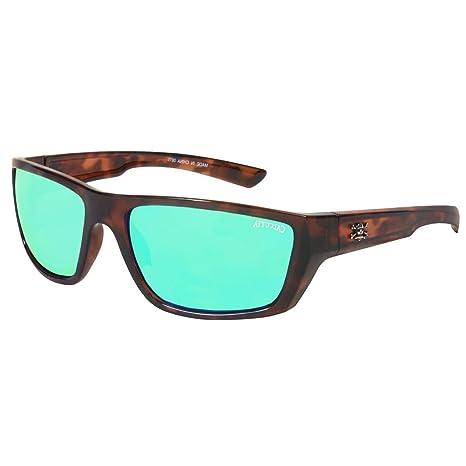 7e72b94816 Amazon.com  Calcutta Shock Wave Sunglasses (Tortoise Frame w  Green Mirror  Lenses)  Sports   Outdoors