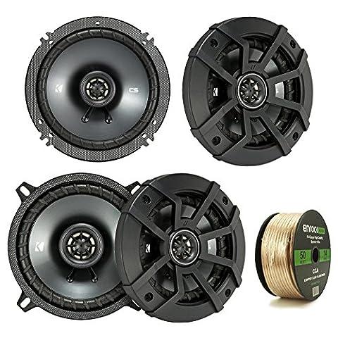 2 Pair Car Speaker Package: 2x Kicker 43CSC5 450-Watt 5-1/4
