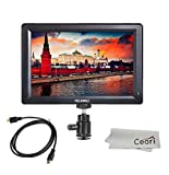 Full HD Monitor - Feelworld 7 Inch IPS Full HD 1920x1200 Field Monitor Supports 4K UHD HDMI Input/Output 1200:1 High Contrast 450cd/m2 High Brightness for Canon Nikon DSLR Camera with MicroFiber Cloth