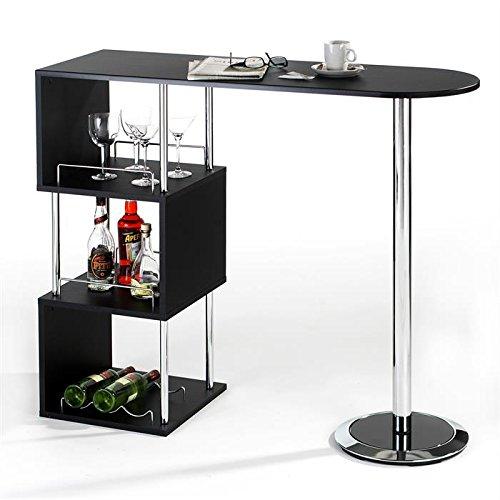 IDIMEX Table Haute de Bar VIGANDO Mange-Debout comptoir et 3 ...