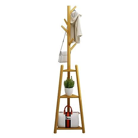 DK- Perchero Perchero Colgar Ropa Bambú De Pie - con 5 ...