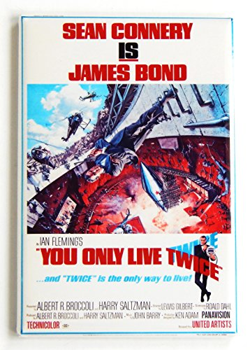 You Only Live Twice Movie Poster Fridge Magnet (2 x 3 inches)