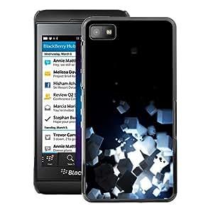 A-type Arte & diseño plástico duro Fundas Cover Cubre Hard Case Cover para Blackberry Z10 (Light Bright Black Minimalist Cubes)