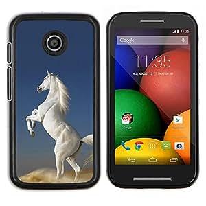 """Be-Star Único Patrón Plástico Duro Fundas Cover Cubre Hard Case Cover Para Motorola Moto E / XT1021 / XT1022 ( Pegasus Caballo Unicornio Blanco Cielo Nube"""" )"""