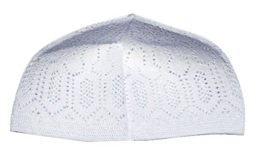 Blanco One-Size Turco musulmán islámica Kufi sombrero taqiya takke ...