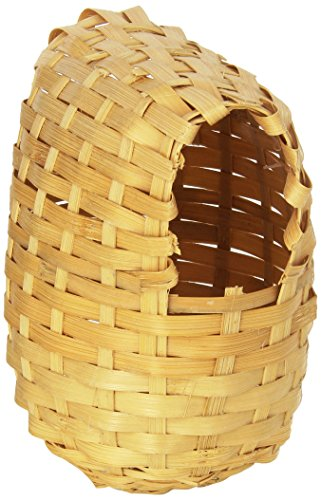 Prevue Pet Products BPV1155 Bamboo Covered Breeding Nest Hut for Birds, Large (Nest Prevue)
