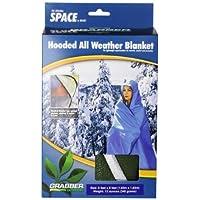Grabber - La manta con capucha /poncho para deportistas de la marca Space original - Verde oliva