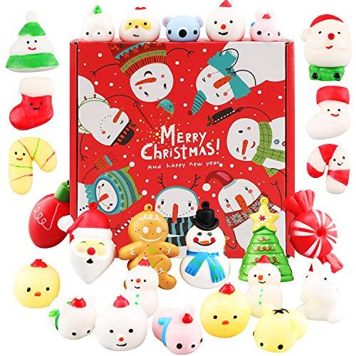 Squishies, Mochi Squishy Toys – Christmas Kawaii Cat Squishys Slow Rising Animals – Party Favors, Goodie Bag, Birthday…