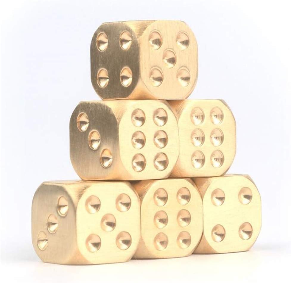 Weihnachtsgeschenk Trinkspiel Chasiroma Messing-W/ürfel Poker-Tisch W/ürfel massives Messing Metallw/ürfel Spiel Kupfer tragbar manuelles Polieren