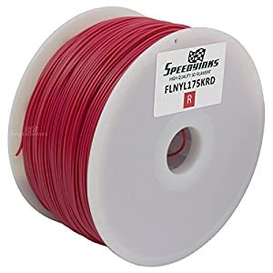 Speedy Inks - 1.75mm 1kg Nylon Red Filament for 3D Printers