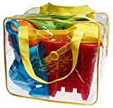 Beach Toy Set in Reusable Zippered Bag with Mesh Bag for Easy Clean and Store