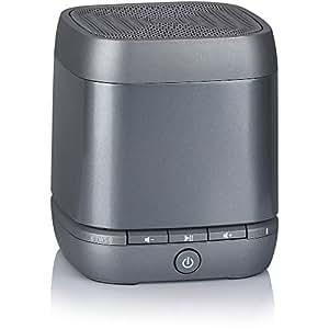 Blackweb Speck Hands-Free Mono Bluetooth Speaker, Grey