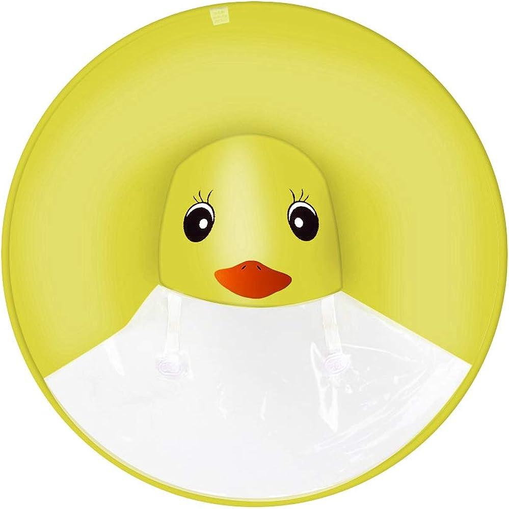 Kids Yellow Duck Hooded Rain Jacket Waterproof Raincoat Cloak Rubber Ducky