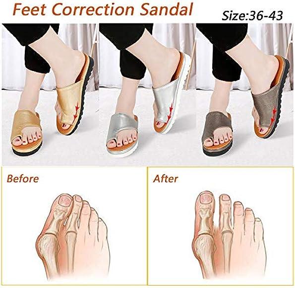 platform foot correction sandals