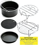 Appliances : Air Fryer Accessories for Gowise Phillips and Cozyna, Set of 5, Fit all 3.7QT - 5.3QT - 5.8QT
