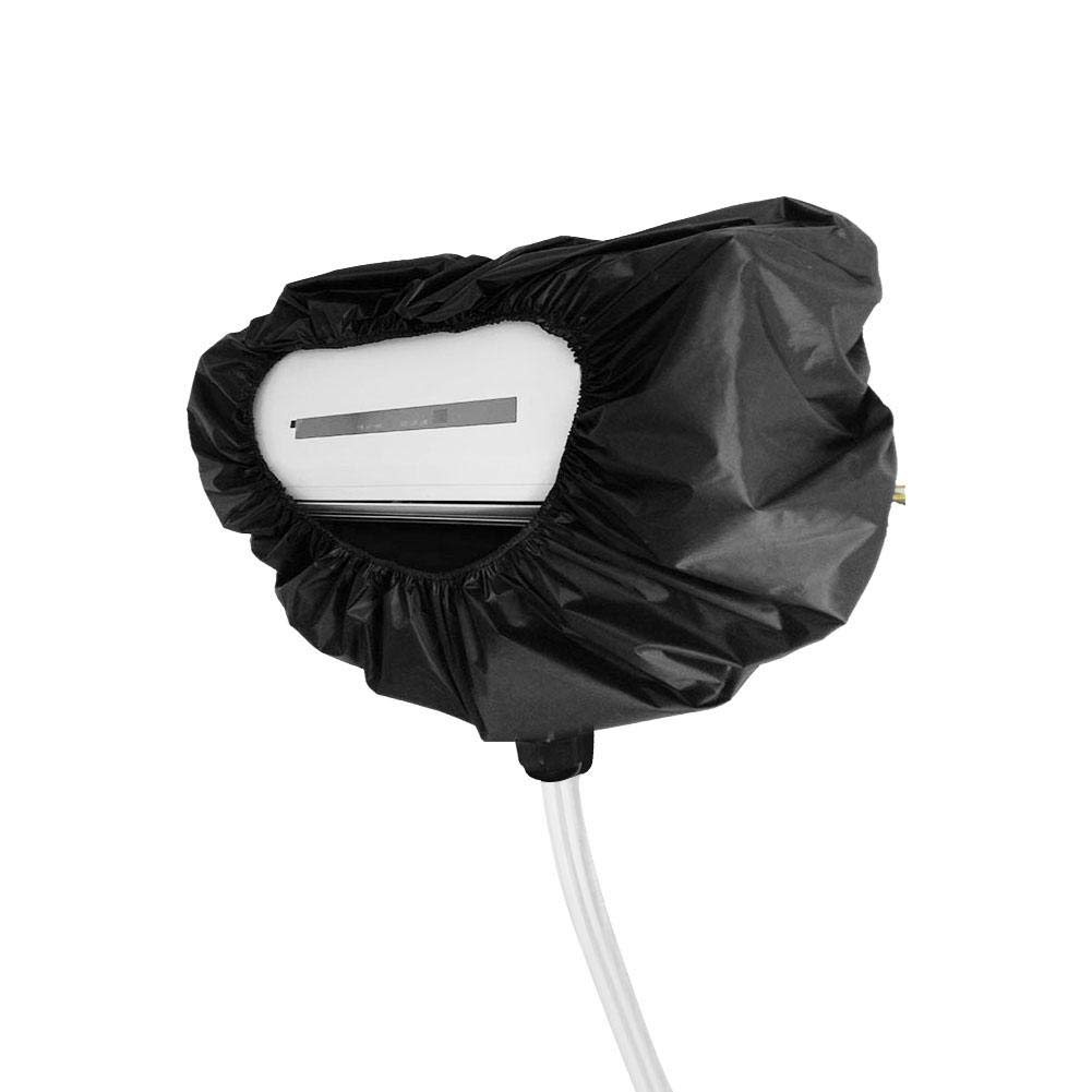 finessci Cleaning Cover,Air Conditioner Waterproof Protective Cover Hanging Machine Household Cleaning Dust Cover with Water Pipe for 3P Office or Home Wall (Black) by finessci