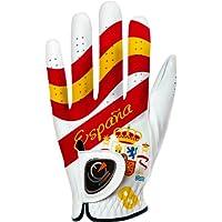 easyglove Flag_Spain - Guante de Golf para Hombre, Color Blanco