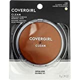 CoverGirl Clean Pressed Powder Compact, Classic Ivory 110 - Pack of 2