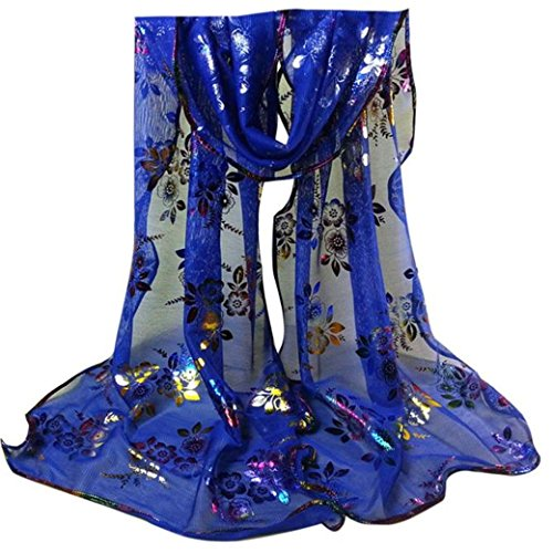 Vintage Gauze Veil Wrap Towel HN Scarf Extra Long Shawl Scarves Under 5 (Blue) (Gauze Vintage)
