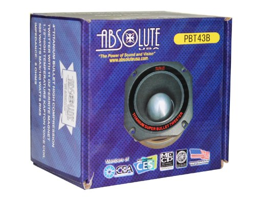 Absolute USA PBT43B 4-Inch Titanium Bullet High Compression Tweeter with 11 Oz Ferrite Magnet by Absolute (Image #2)