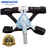 CPAP Headgear-Replaces Respironics and ResMed Straps - Ultra Comfortable 4 Point Connection Headgear Straps for all types of Masks - Compatible with Most Apnea Masks (MASK NOT INCLUDED)