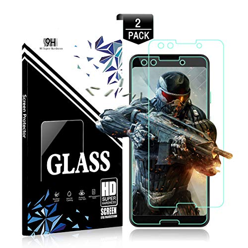 Screen 3 Protectors Premium (Google Pixel 3 Screen Protector Glass HD Clear PCWL 3D Touch Anti-Scratch Anti-Glare [2 Pack] [Non-Bubble] [Case Friendly] Premium Tempered Glass Screen Protector Compatible with Google Pixel 3)