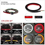 GohEun Car Truck 60'' 120 LEDs Tailgate Strip Turn Signal Brake Reverse Light 3 Colors