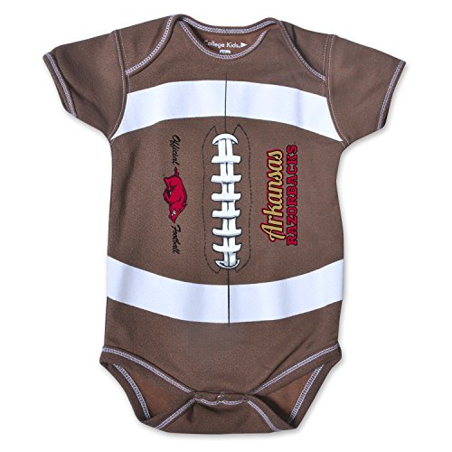 acks Kids MVP Football Bodysuit, 6 Months, Brown ()