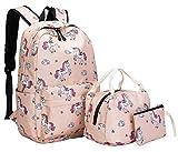School Backpack for Girls Cute School Bookbag set Teens womens Boys Kids Waterproof fit 15.6 inch Laptop Travel Daypack (Unicorn - Pink 01)
