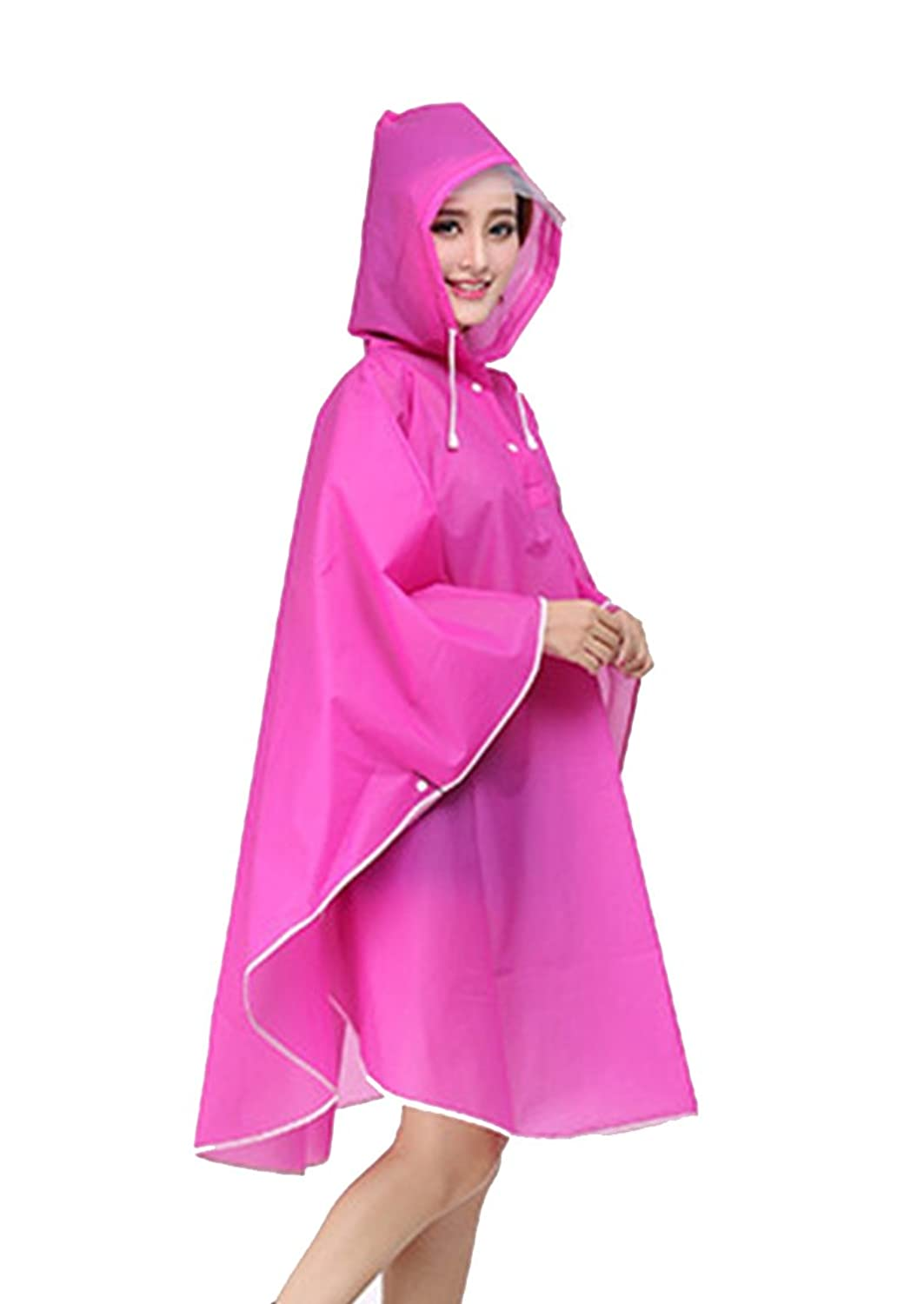 08c25ffe0fdd5 The long raincoat women raincoat men is one size fits all adults and  perfect for both men and women. The Rain coat ...