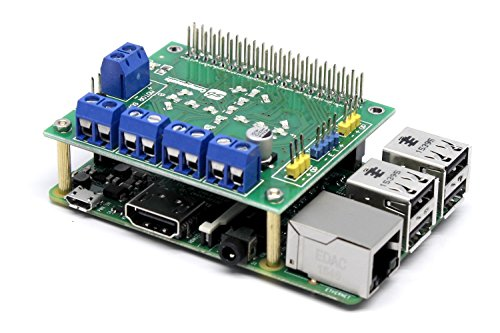 (SB New Motorshield for Raspberry Pi 3,2,1 and Zero This Expansion Board can Control up to 4 Motors or 2 Stepper Motor, 2 IR sensors and a Single ultrasonic Sensor.)
