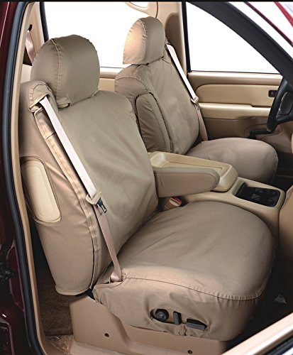 SS2472WFTP Covercraft SeatSaver Front Row Custom Fit Seat Cover for Select Toyota RAV4 Models Taupe Waterproof