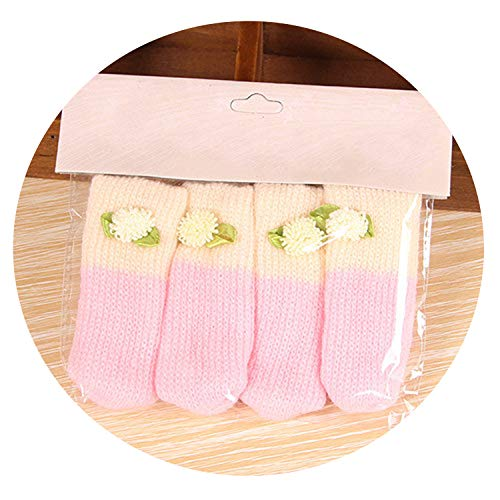 4Pcs /Set Cute Cat Paw Table Chair Foot Leg Knit Cover Protector Socks Sleeve Protector Good Scalability Non Slip Wear,14,M (Craigslist Chairs And Table Kitchen)