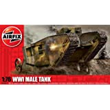 Hornby Airfix A01315 1:76 Scale WWI Male Tank Military Vehicles Classic Kit Series 1