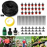 SAFETYON Watering Irrigation Kits 18M Automatic Sprinkler System Kit Micro Dripper Irrigation Kit Accessories for Outdoor Garden Watering